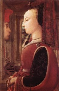 Man and a Woman at a Casement by Filippo Lippi
